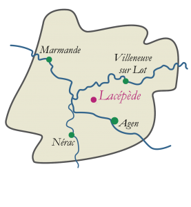 Carte du Lot-et-Garonne