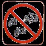 Véhicules à moteur interdits