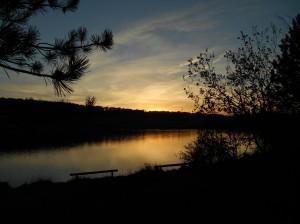 Soleil d'automne sur le lac