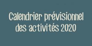 calendrierPrevisionnel2020ALaUne