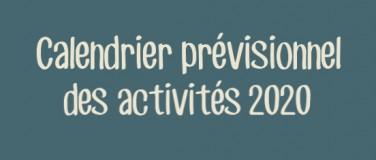 Calendrier prévisionnel 2020